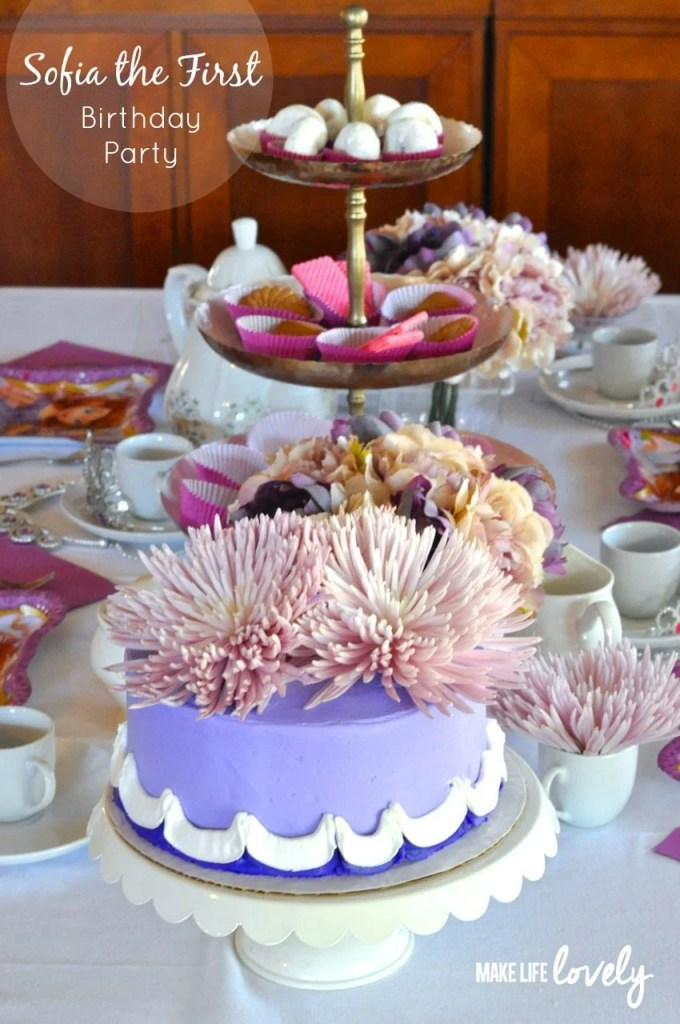 Sofia the First Birthday Party by Make Life Lovely