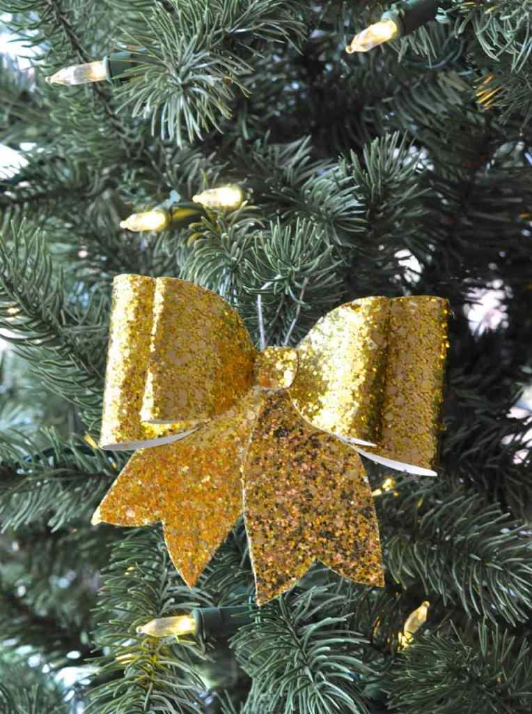 DIY Glitter Bow Ornament