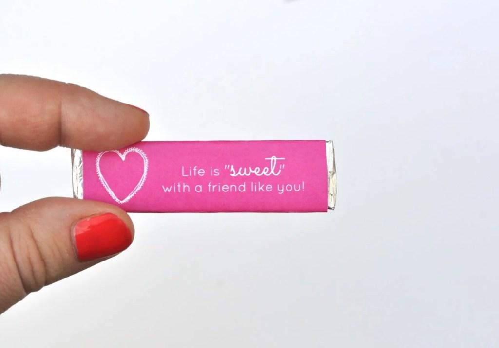 Free printable valentine gum wrappers