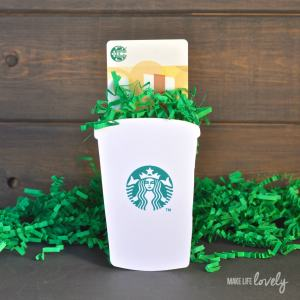 DIY Starbucks Gift Card Holder