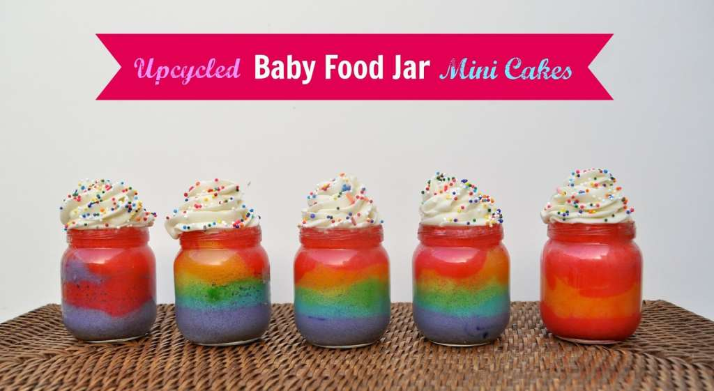 Upcycled Baby Food Jar Mini Cakes, by Make Life Lovely