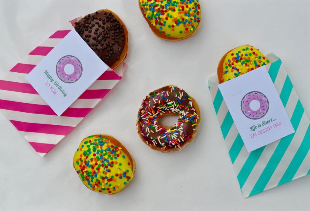 Free Printable Doughnut Tags