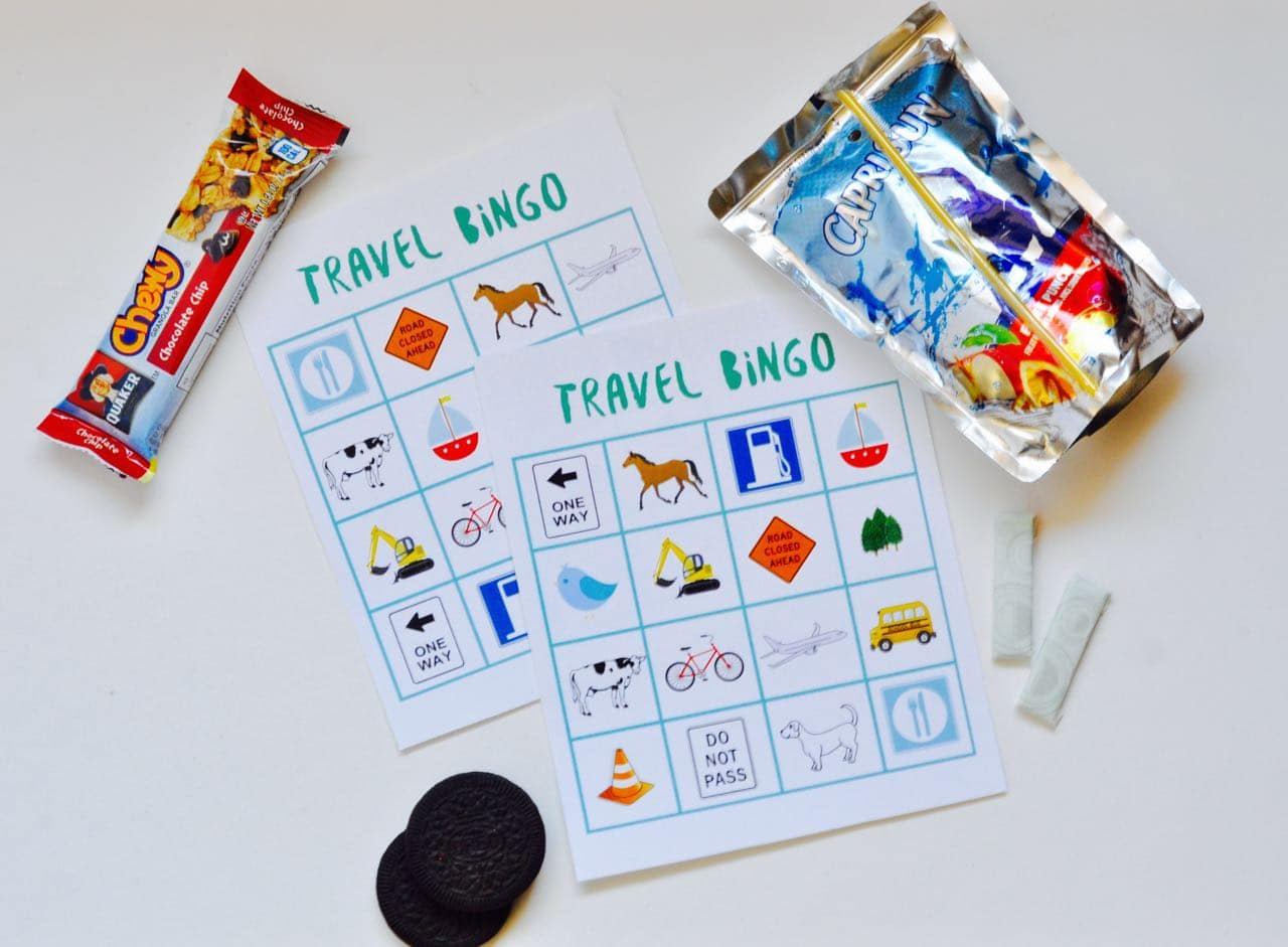 It is a graphic of Soft Travel Bingo Game