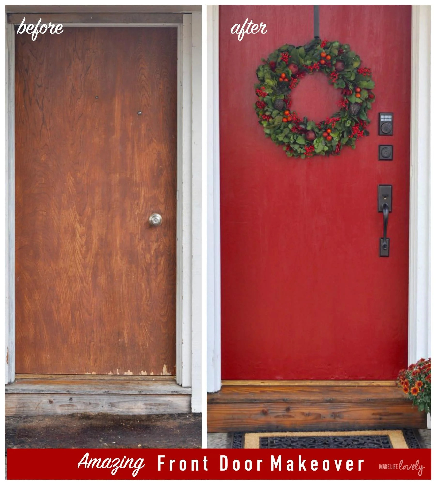 High Quality Amazing Front Door Makeover Before And After