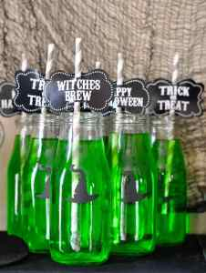 Halloween Witch Potion Drink Bottles