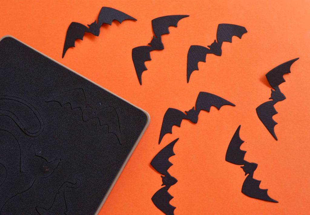 Halloween Bat Toppers with Tim Holtz Sizzix Hocus Pocus Die