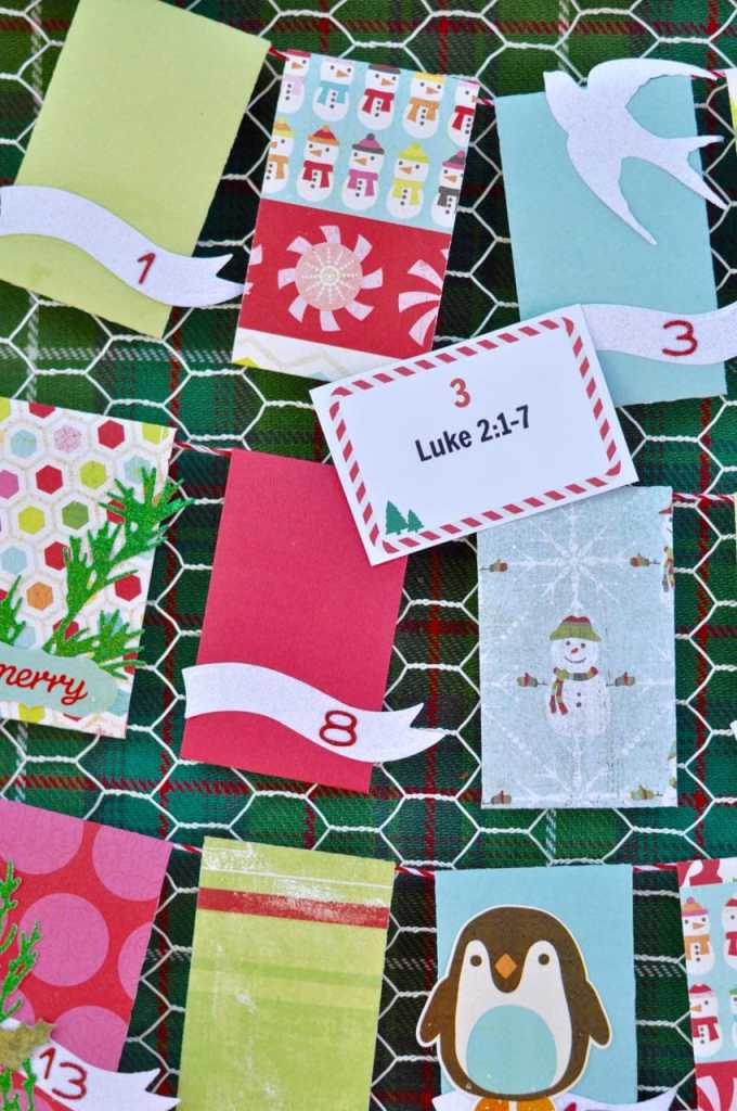Free printable Christmas advent scripture cards