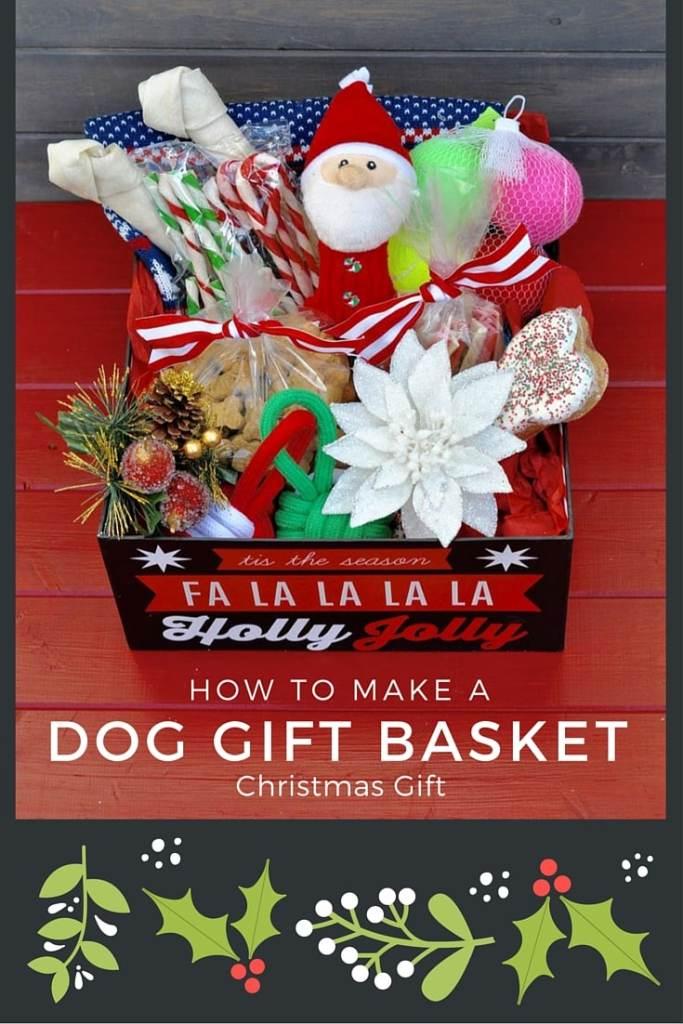 How to make a dog basket Christmas gift