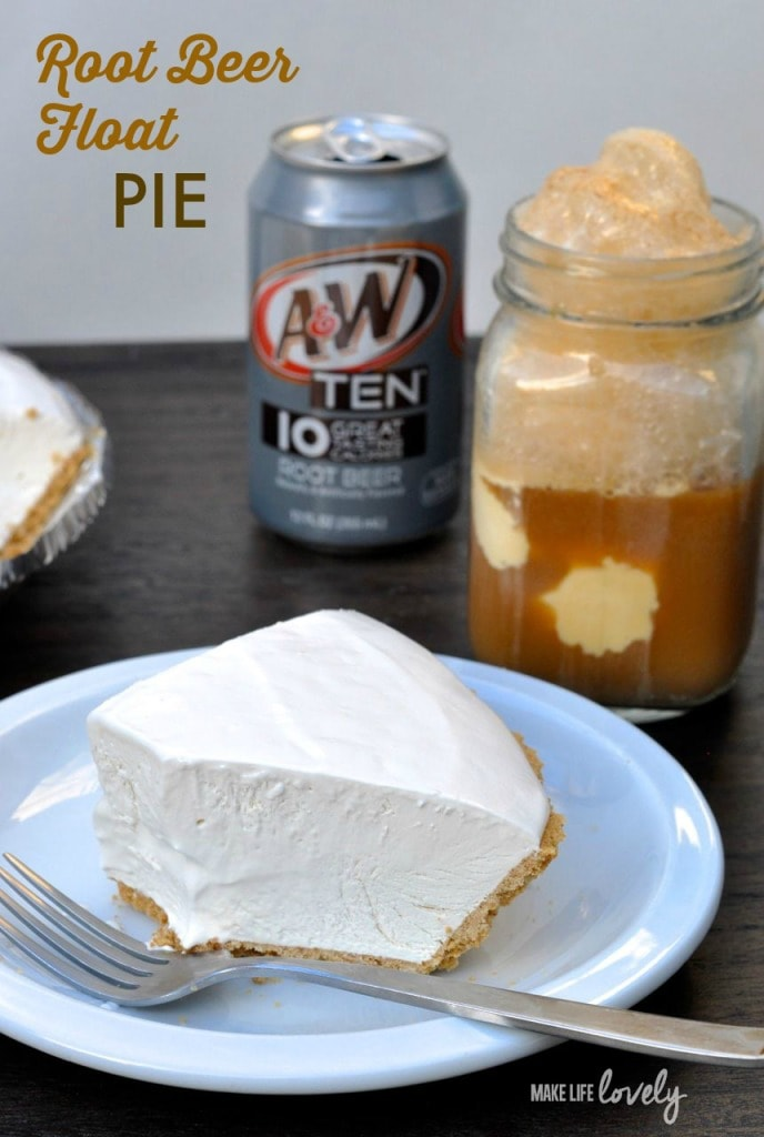 Root Beer Float Pie Recipe. Cold and refreshing just like the drink!