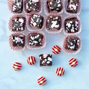 Chocolate Candy Cane Fudge Recipe
