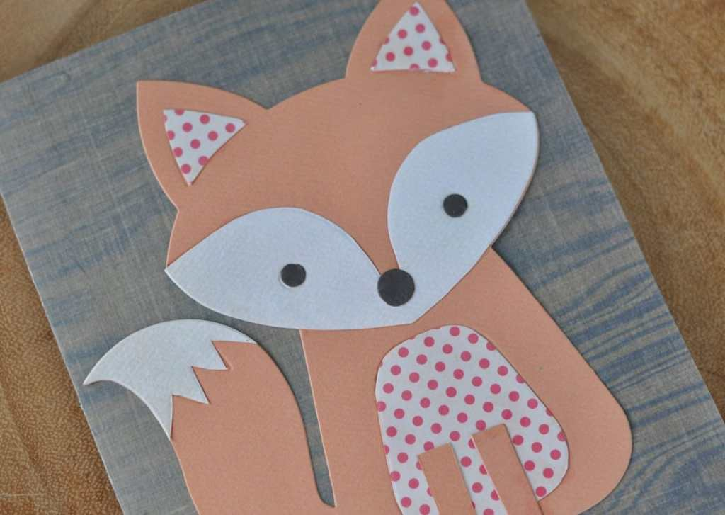 Cute fox card using Lori Whitlock's Fox #2 Sizzix die