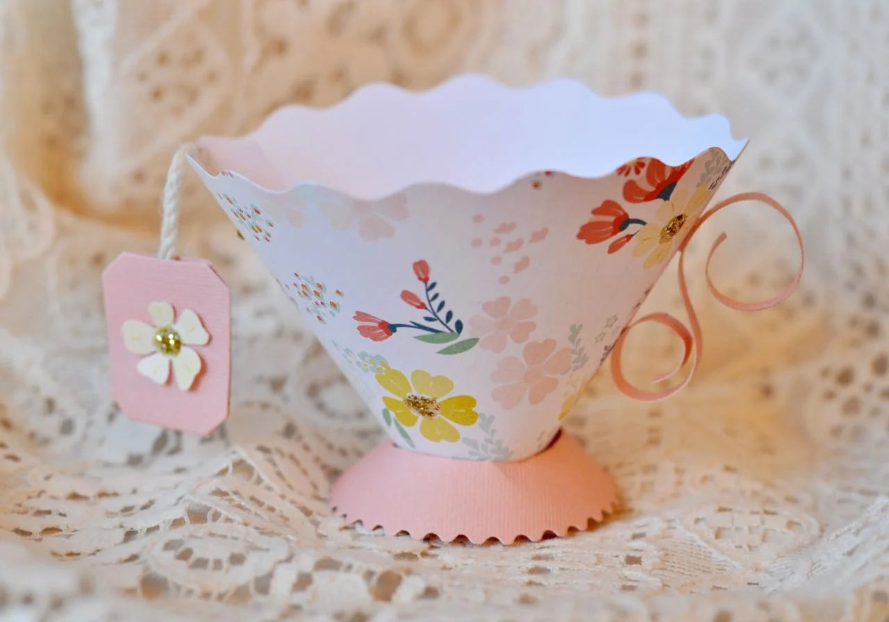 Paper teacup party favor make life lovely for Teacup party favors