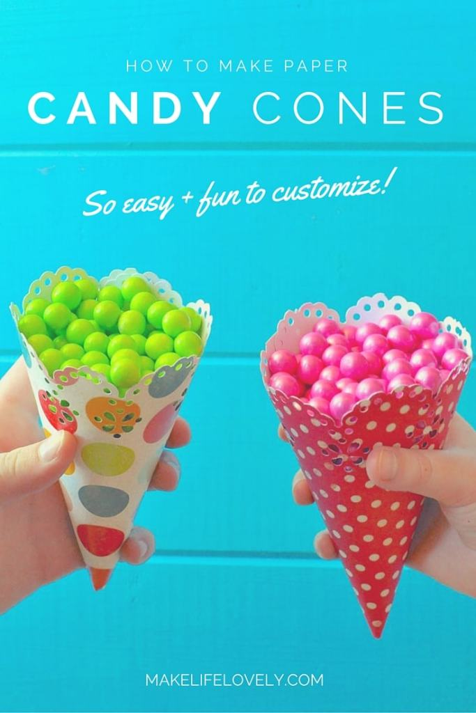 How to Make Paper Candy Cones