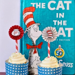 Cat in the Hat Cupcake Toppers