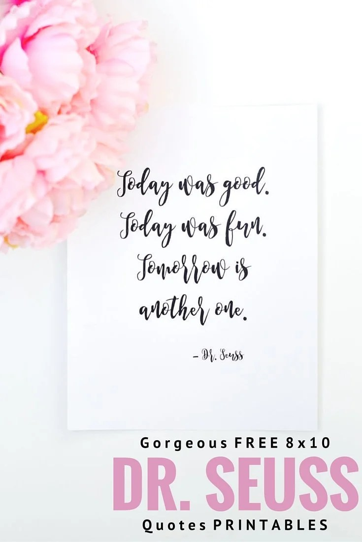 Free Printable Dr. Seuss Quotes