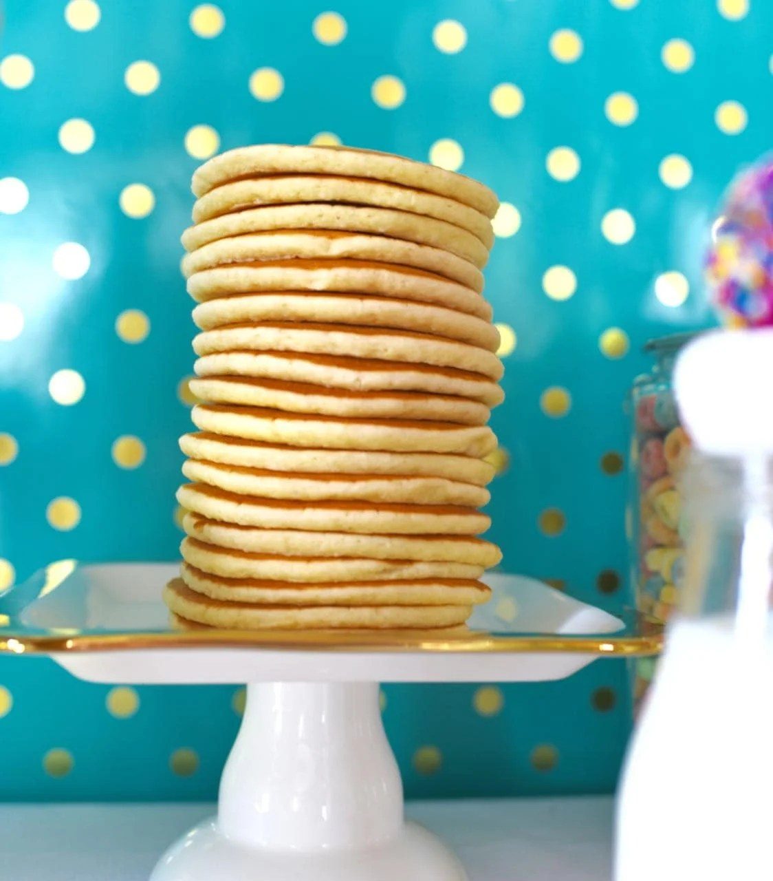 Pancakes and pajamas party food