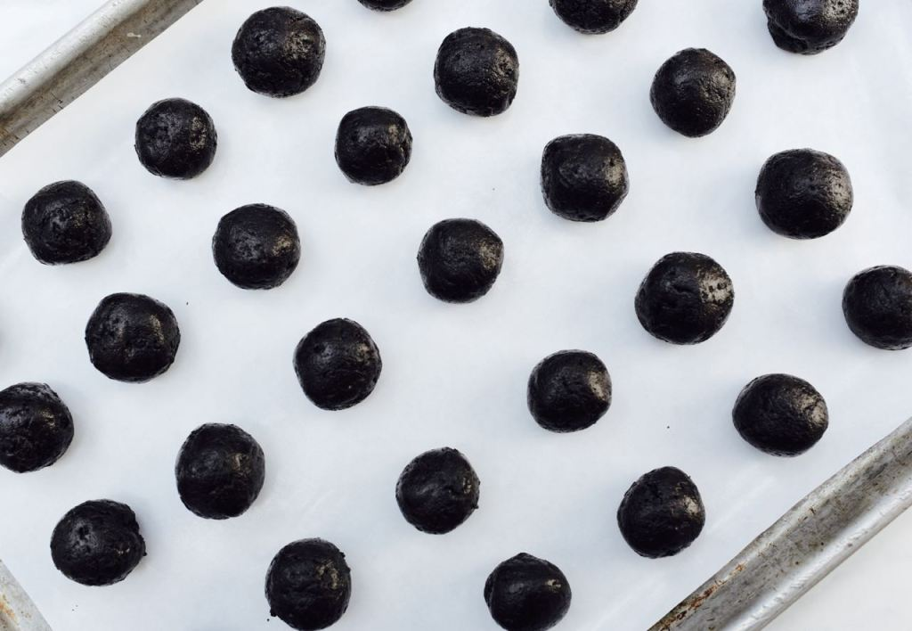 Roll the OREO cookie balls