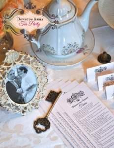 Downton Abbey Tea Party + Free Printable Downton Abbey Trivia Quiz