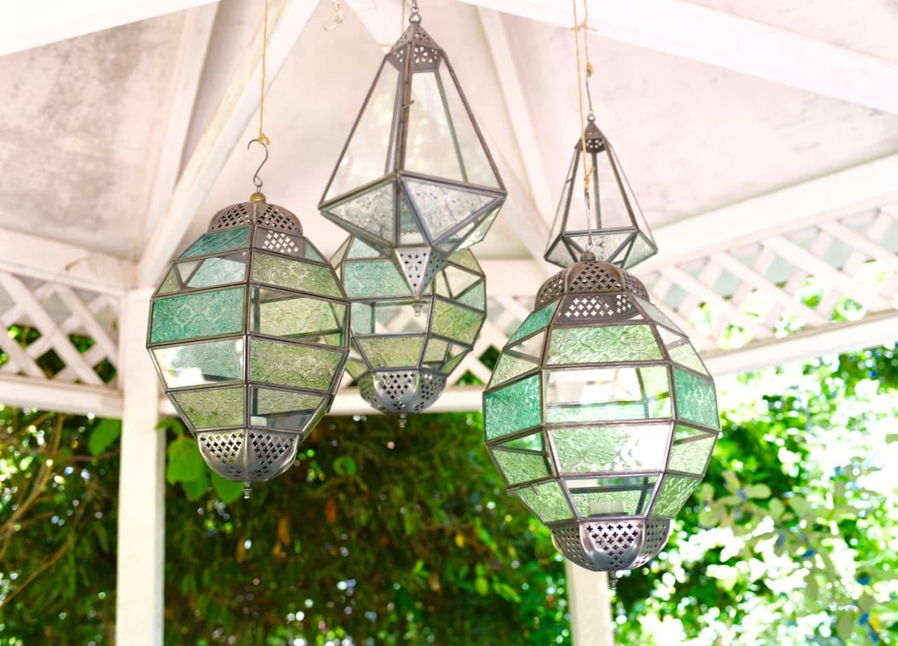 Gazebo lights for Lesley Nicol's backyard makeover