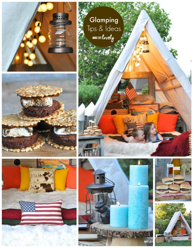 Backyard camping party make life lovely for Glamping ideas diy