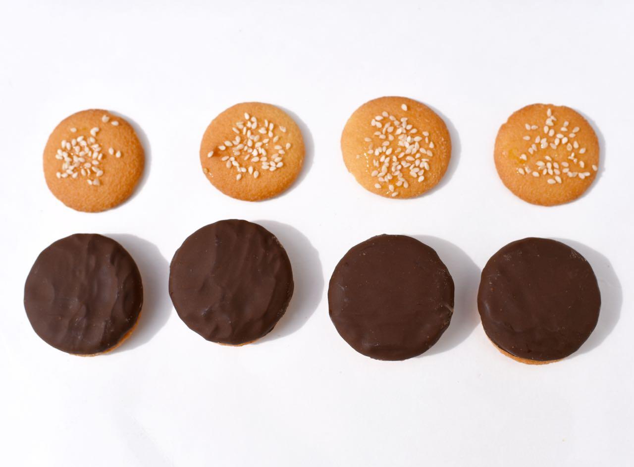 Mini hamburger cookies