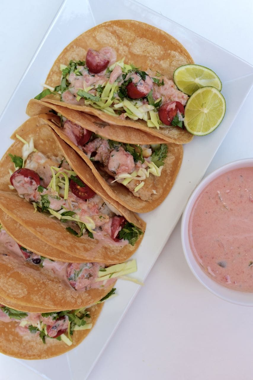 Delicious fish taco recipe. Just three ingredients and SO easy to make!