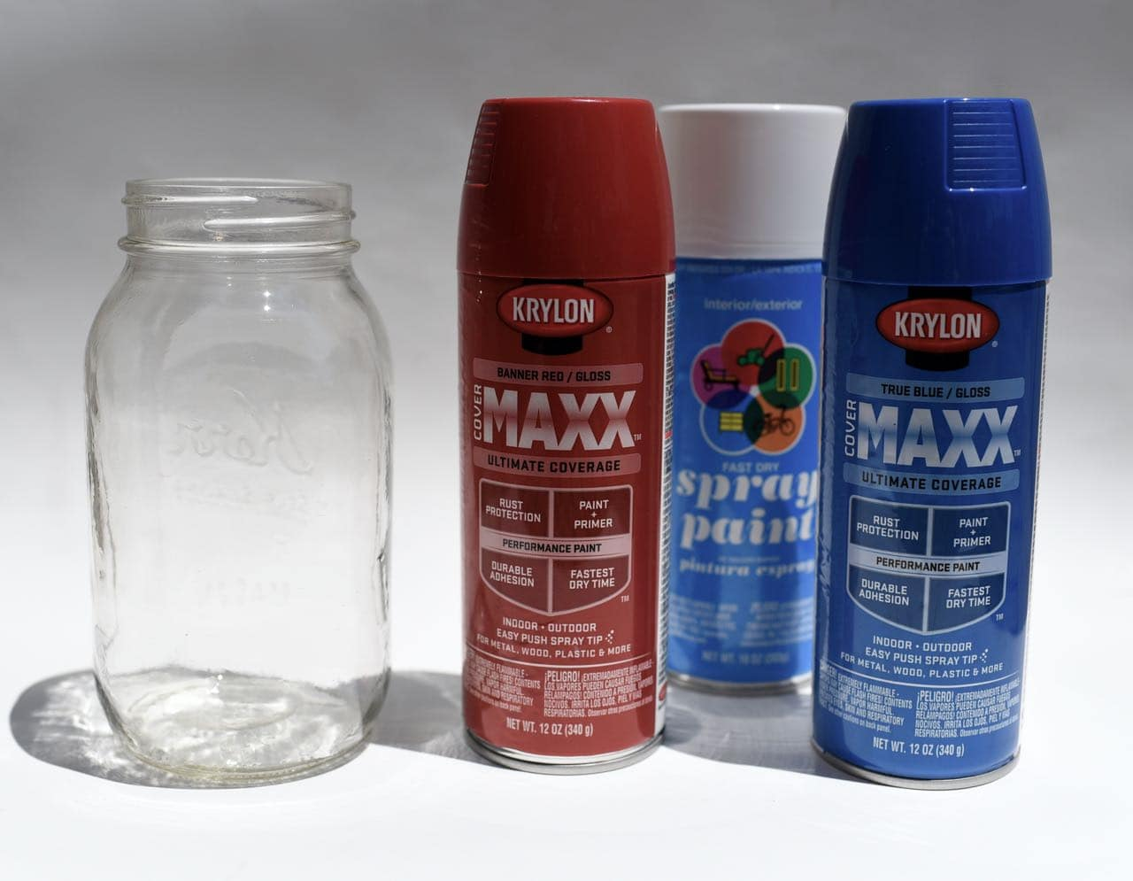 Krylon Maxx spray paint Fourth of July craft