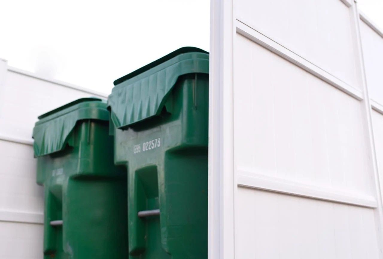 Trash can enclosure directions
