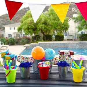 Fun Kids Summer Party + Ocean Sensory Bin