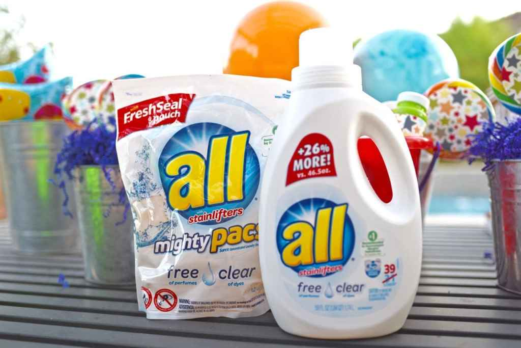 all laundry detergent at our summer party