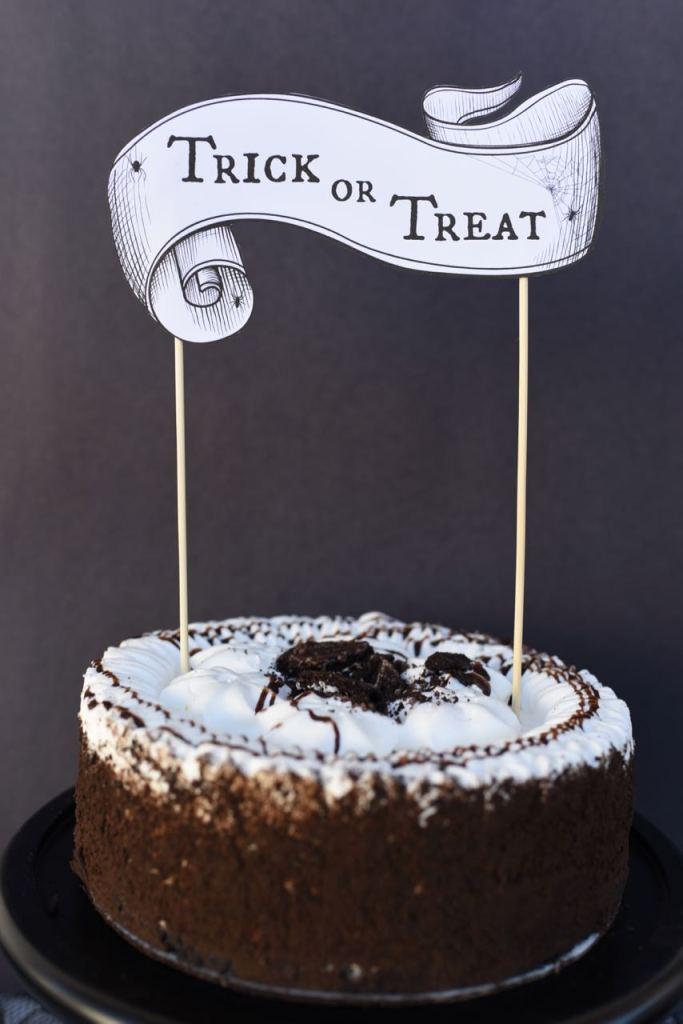Free Printable Halloween Cake Topper Make Life Lovely