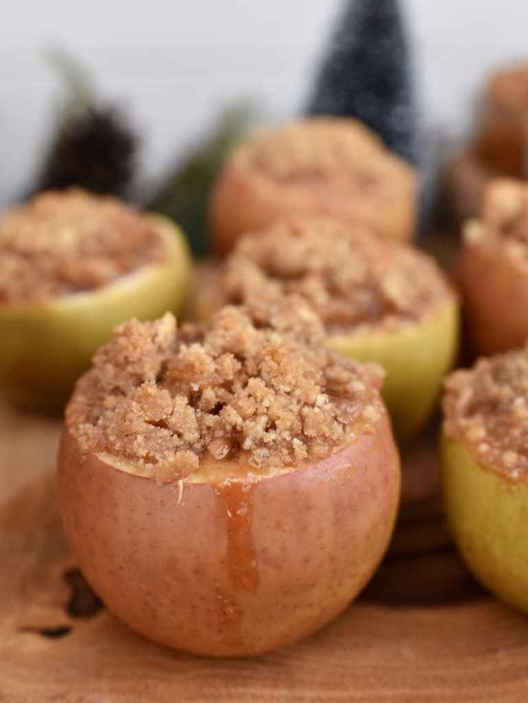 Apple pie baked in an apple. So delicious and easy to make!