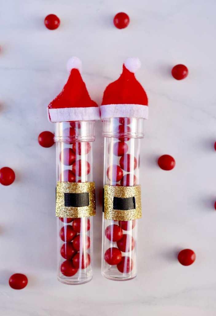 Christmas Santa candy tubes