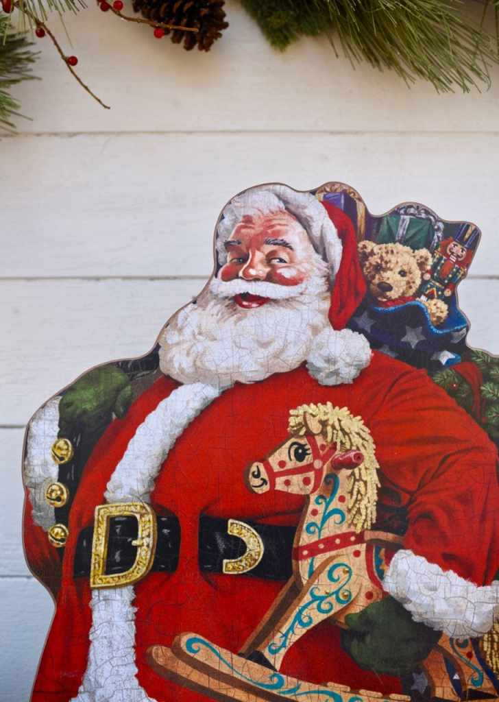 Old fashioned Santa sign