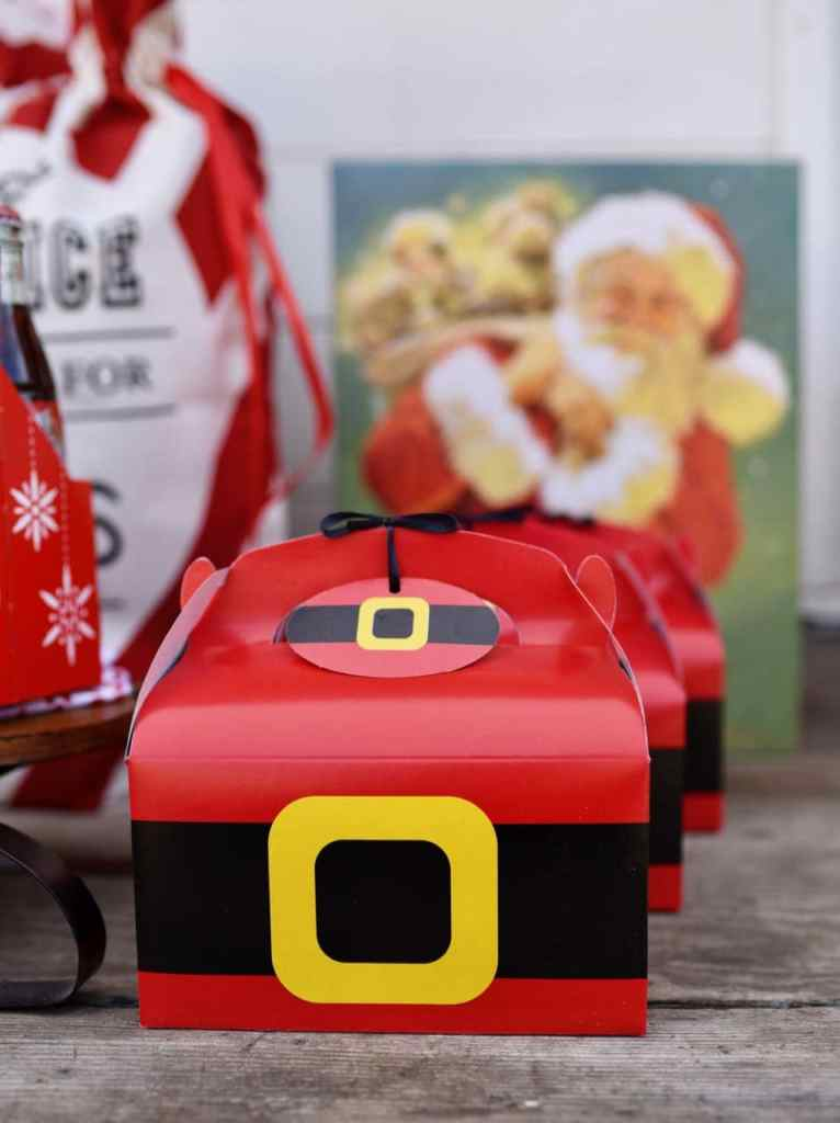 Santa belt treat boxes