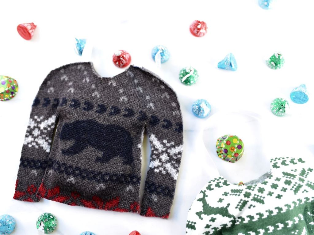 Ugly Sweater Party Ideas Candy Bags