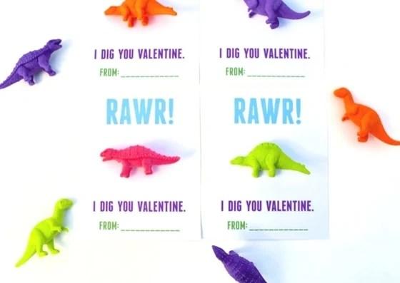 Dinosaur valentines printable free
