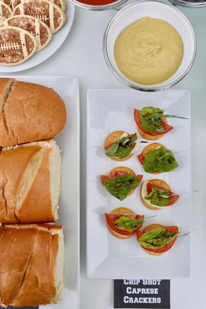 Football party sandwich bar