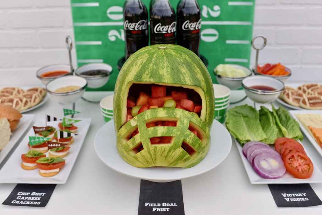 Healthier football party ideas and sandwich bar