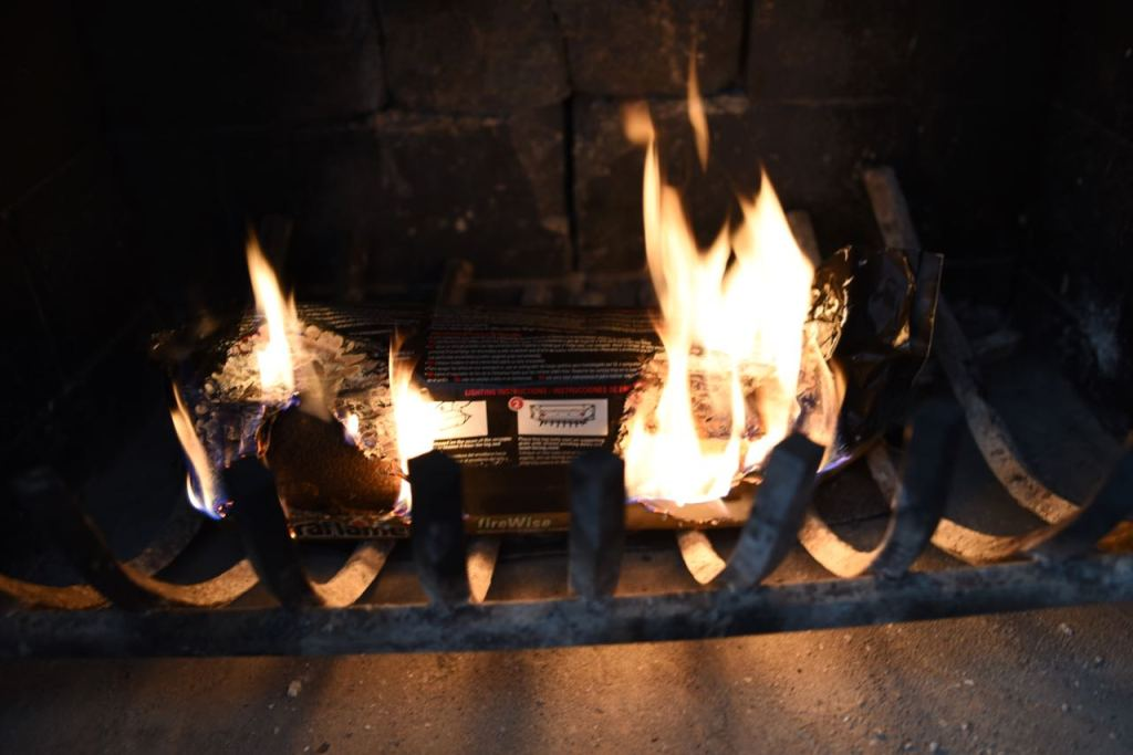 How to light a Duraflame fire log
