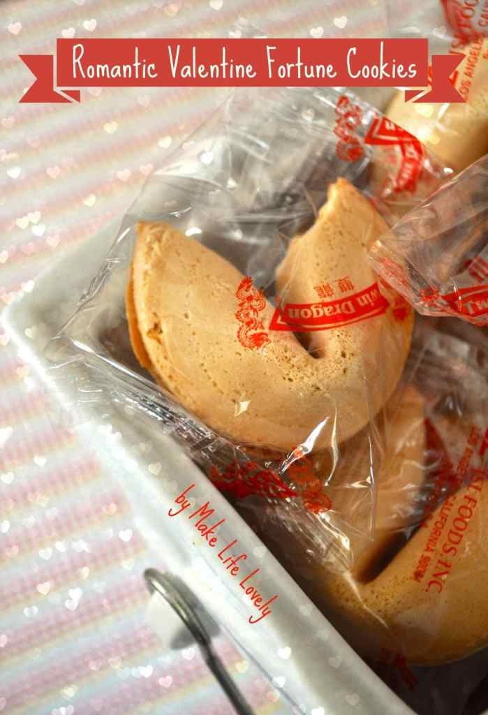 Romantic valentine fortune cookies