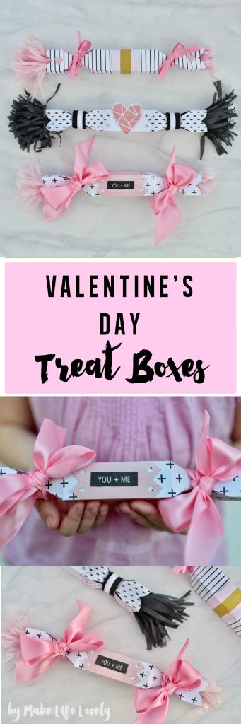 Valentines Day treat boxes tutorial
