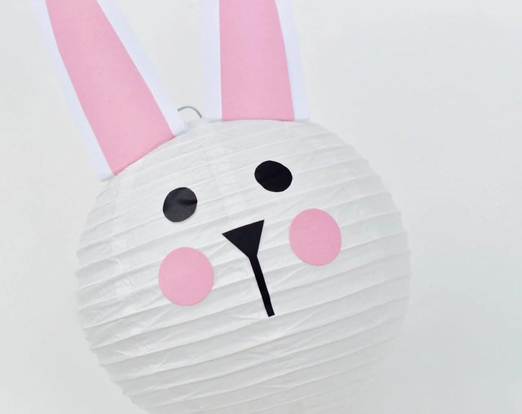 Easter bunny paper lantern DIY