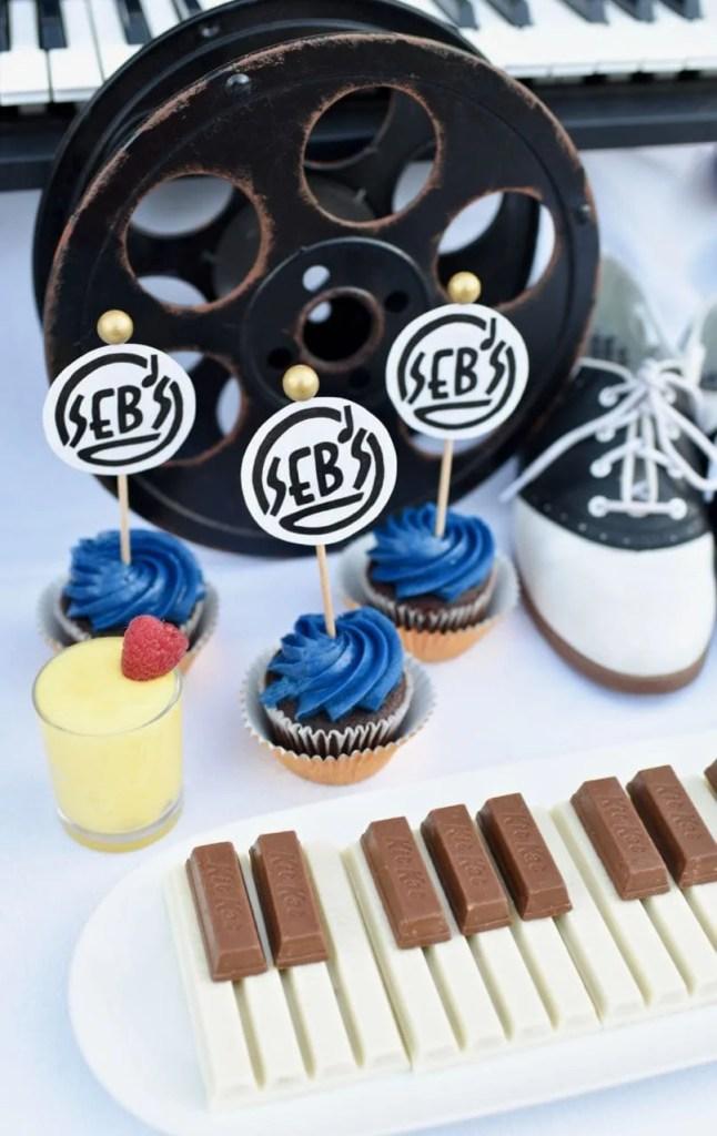 La La Land printables free Seb's cupcpake toppers
