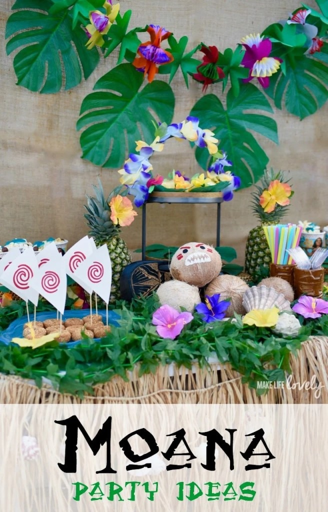 Awesome Moana party with lots of cute details