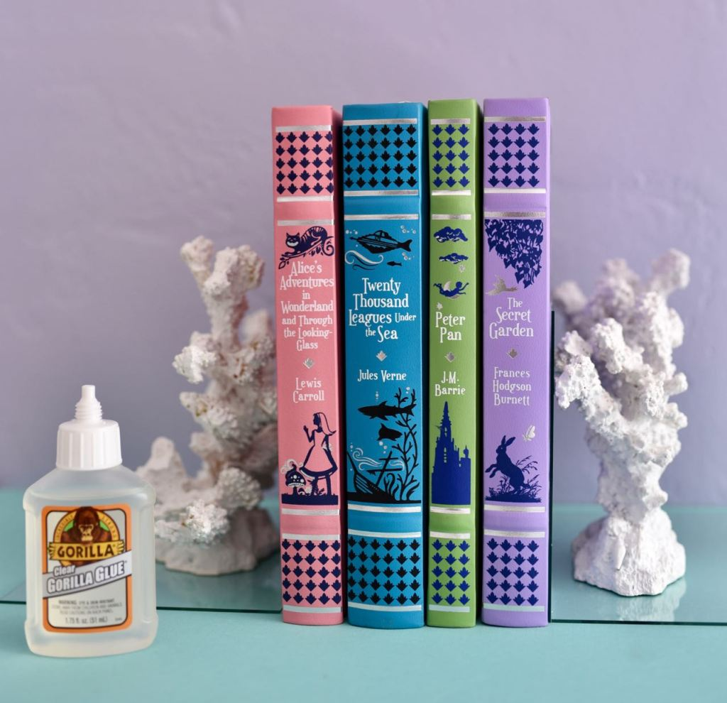 DIY coral bookends craft for sumer with Clear Gorilla Glue
