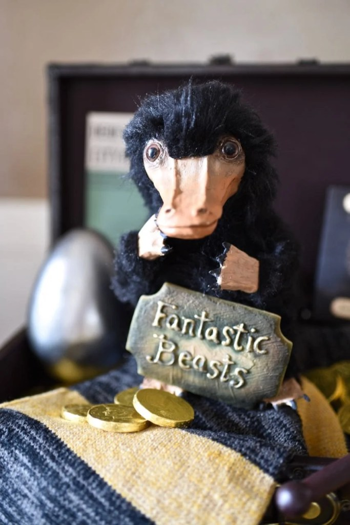 Fantastic Beasts and Where to Find Them party homemade niffler