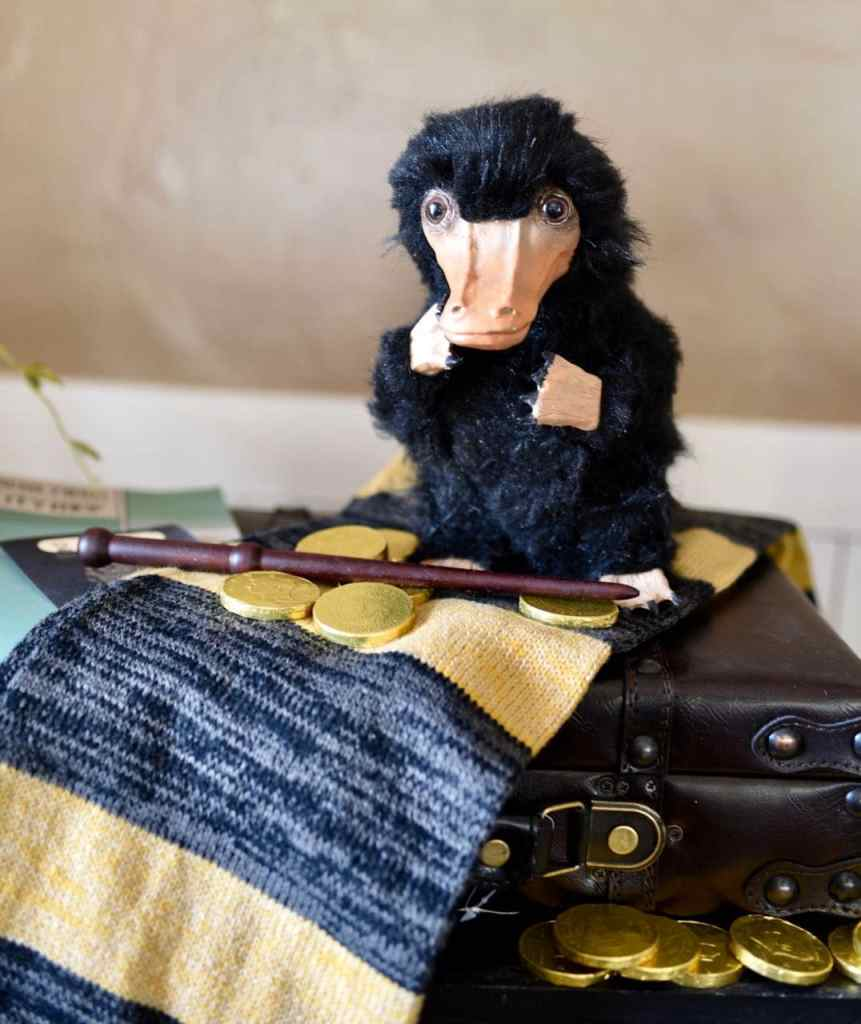 Homemade niffler at Fantastic Beasts and Where to Find Them party