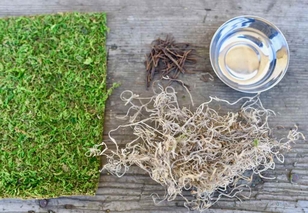 How to make a birdnest and Easter nest place setting