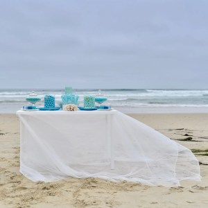 Blue Candy Buffet for an Ocean Themed Wedding